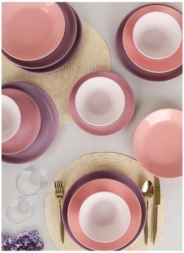 Keramika Keramika Hitit Degrade Violet Yemek Takımı 24 Parça 6 Kişilik Beyaz